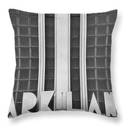 Art Deco Address In Montreal Throw Pillow