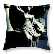Art Deco Angel Throw Pillow