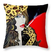 Art Deco Bell Throw Pillow