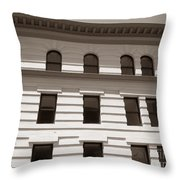 Out Of Line - Art Deco In San Francisco Throw Pillow