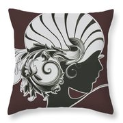 Art Deco Throw Pillow by Diane Wood