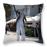 Art Deco Festival Street Scenes Throw Pillow