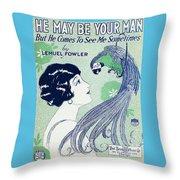 Art Deco Poster Throw Pillow