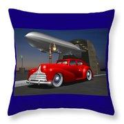 Art Deco Sedan Throw Pillow