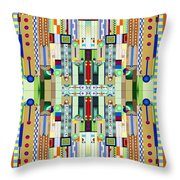 Art Deco Stained Glass 2 Throw Pillow