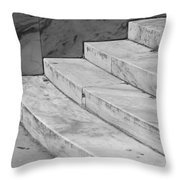Art Deco Steps In Black And White Throw Pillow