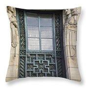 Art Deco Window Throw Pillow