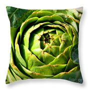 Art E. Choke - Artichokes By Diana Sainz Throw Pillow