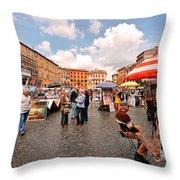 Art Exhibit Throw Pillow