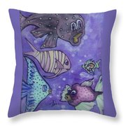 Fish Art Throw Pillow