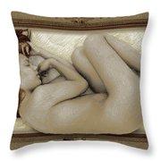 Art For The Sake Of Art Woman Framed 3 Throw Pillow