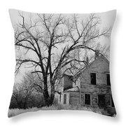 Art Homage Andrew Wyeth Abandoned 1930's Farm House Near Aberdeen South Dakota 1965-2012 Throw Pillow