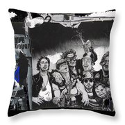 Art Homage James Montgomery Flagg Ww1 Poster Number 1 Midway Arizona State Fair Phoenix 1967  Throw Pillow