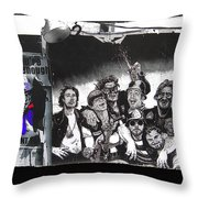 Art Homage James Montgomery Flagg Ww1 Poster Number 2 Midway Arizona State Fair Phoenix 1967 Throw Pillow