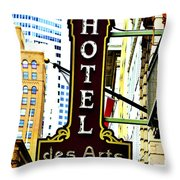 Art Hotel Throw Pillow