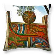 Art In A Cusco Park-peru  Throw Pillow