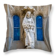 Art In Barcelona Throw Pillow
