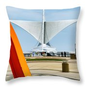 The Milwaukee Art Museum By Santiago Calatrava Throw Pillow