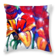 Art In The Eyes 3 Throw Pillow