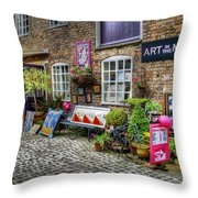 Art In The Mill Throw Pillow