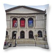 Art Institute West Facade Throw Pillow