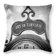 Art Is Timeless Throw Pillow