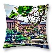 Art Museum Leaves Throw Pillow