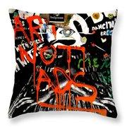 Art Not Ads Throw Pillow