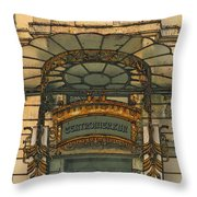 Art Nouveau Doorway In Ljubljana Throw Pillow