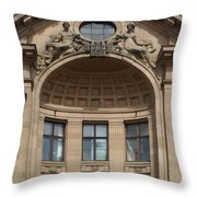 Art Nouveau In Riga 26 Throw Pillow