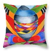 Art Nouveau Shaman Throw Pillow