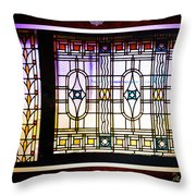 Art-nouveau Stained Glass Window Throw Pillow