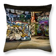 Art Of The Underground Throw Pillow by Heather Applegate