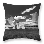 Art Over A Field Of Grey Throw Pillow