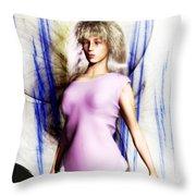Art School Girls Throw Pillow