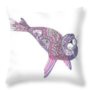Art Seal Throw Pillow