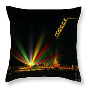 Art Smith Acrobatics Pilot With Contrails Left By Flares Attache Ppie 1915 Throw Pillow