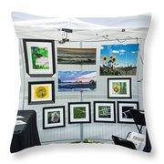 Art Tent Throw Pillow