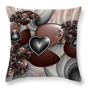 Art With Heart Throw Pillow