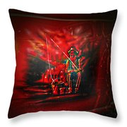 Art Work On Old Ford Truck Throw Pillow
