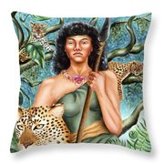 Artemis Throw Pillow by Karin  Leonard