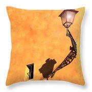 Artful Street Lamp Throw Pillow