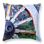 Artful Wagon Wheel Throw Pillow