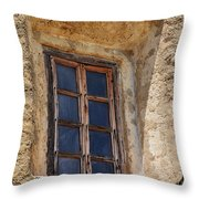 Artful Window At Mission San Jose In San Antonio Missions National Historical Park Throw Pillow