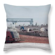 Arthur Anderson Freighter Throw Pillow