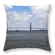 Arthur Ravenel Bridge Throw Pillow