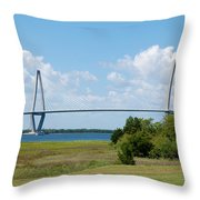 Arthur Ravenel Jr Bridge Throw Pillow