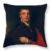 Arthur Wellesley, Duke Of Wellington Throw Pillow