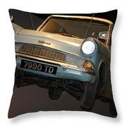 Arthur's Flying Ford Anglia Throw Pillow