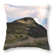 Arthur's Seat In Edinburgh Throw Pillow